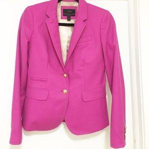 Pink flannel jcrew schoolboy blazer. Size 2Tall